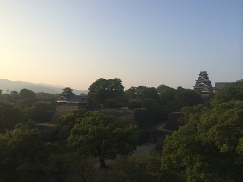 熊本城 夕焼け 景観
