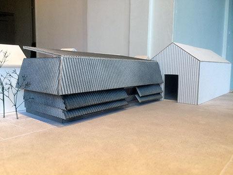徳島のオフィス 模型 建築デザイン