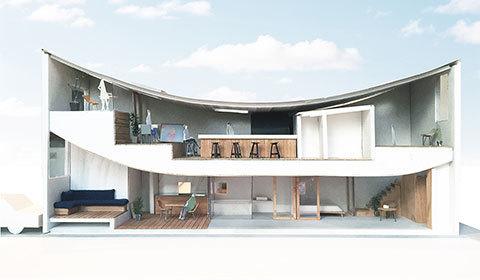 岡山のレストラン OHA デザイン
