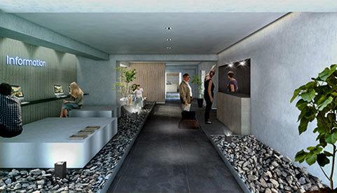 京都 三条のホテル エントランス 設計 デザイン